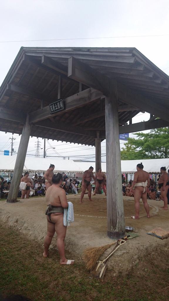 錣山部屋ふれあい相撲開催